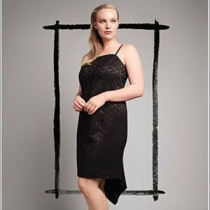 NWT- Sz 22 Isabel Toledo black basket weave dress
